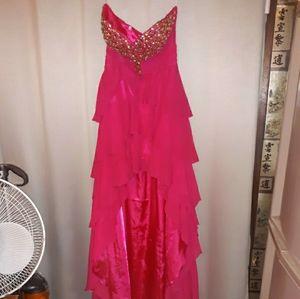 Night Moves Formal Pink Rhinestones Prom Dress